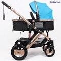 Belecoo carrinho de bebê de alta paisagem pode se sentar e deitar suspensão carrinho de bebê