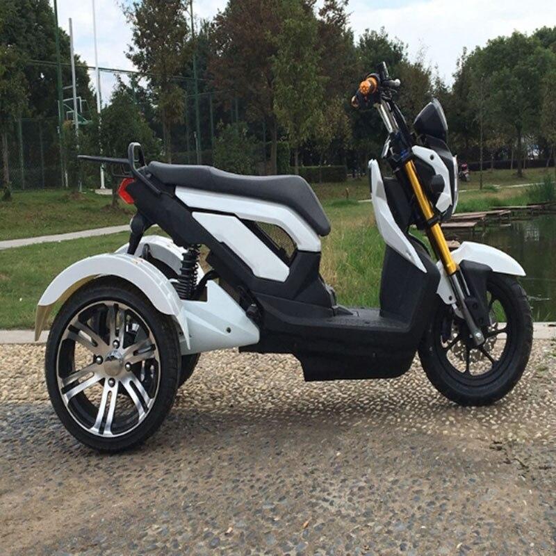Tricycle électrique adulte Électrique moto 1500 W pneu Large trottinette électrique 72 V/20A motos électriques Citycoco
