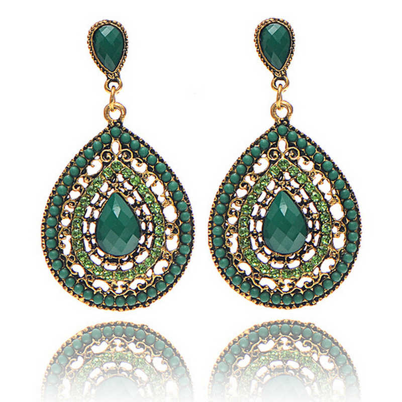 Blue earrings 2018 New Fashion Party Dresses Bohemia Style Enamel Beads Earrings Vintage Jewelry for Women Fashion Jewelry