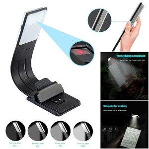 Портативный светодиодный светильник для чтения книг со съемным гибким зажимом, перезаряжаемая USB лампа для Kindle/электронных книг -- M25