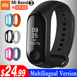 Xiao mi mi fascia 3 Intelligente wristband Touch Screen Oled Messaggio FREQUENZA Cardiaca Timefitness Braccialetto Smartband