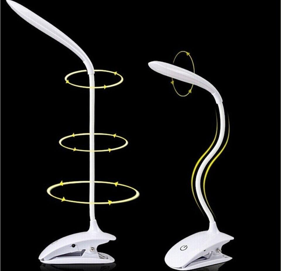 čtecí oční stůl stolní lampa LED Stolní lampa s kliparty Kniha čtení Lehká LED stolní lampa Tabulka Dotkněte se 3 režimů