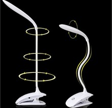 цена на Led reading eye protection desk lamp with Clip three level brightness switch dimmer table lamp,1pcs/lot Free Shipping