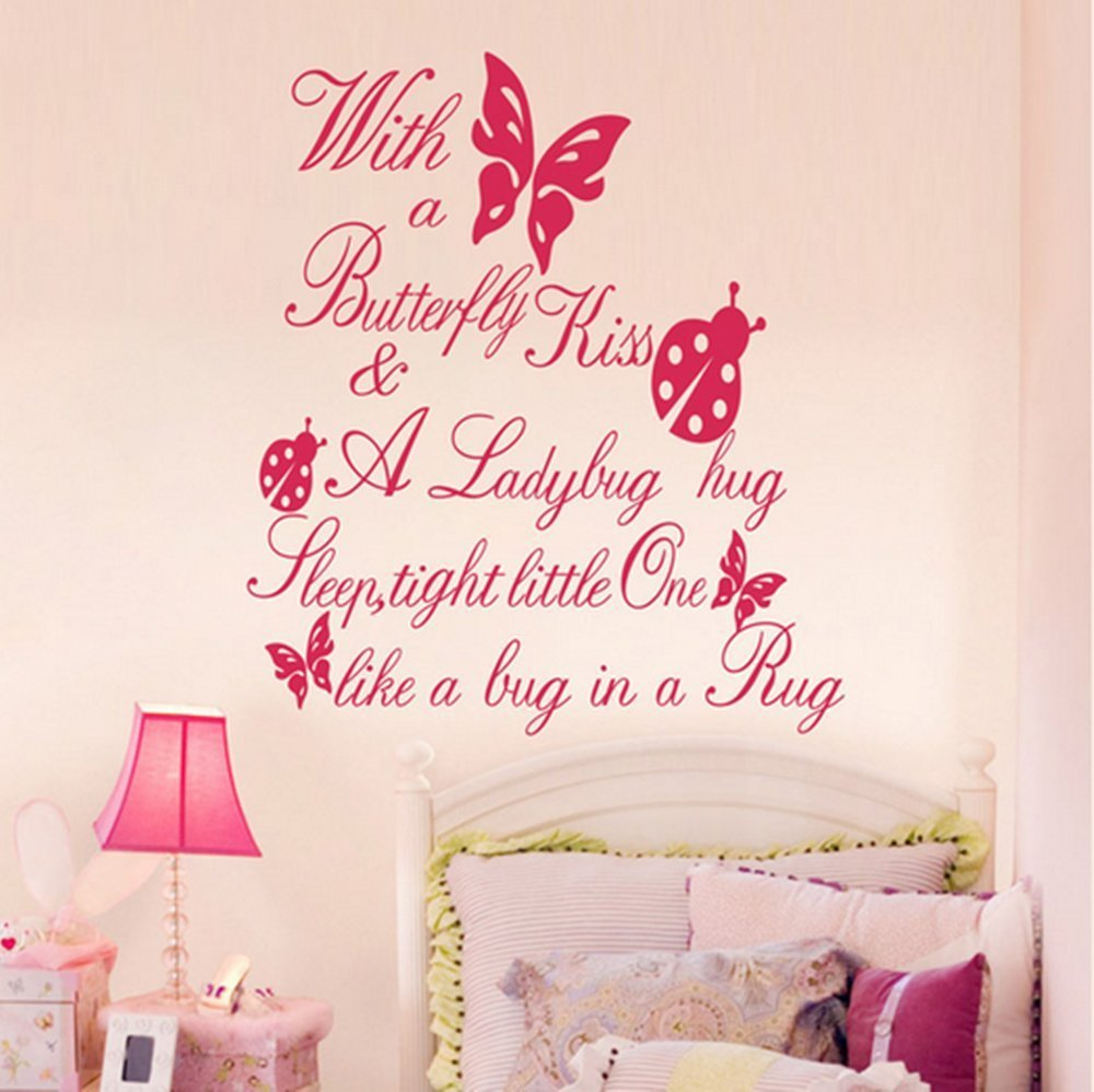compare prices on hugging quotes online shopping buy low price butterfly kiss ladybug hug quote wall sticker art vinyl decal baby room paper mural china