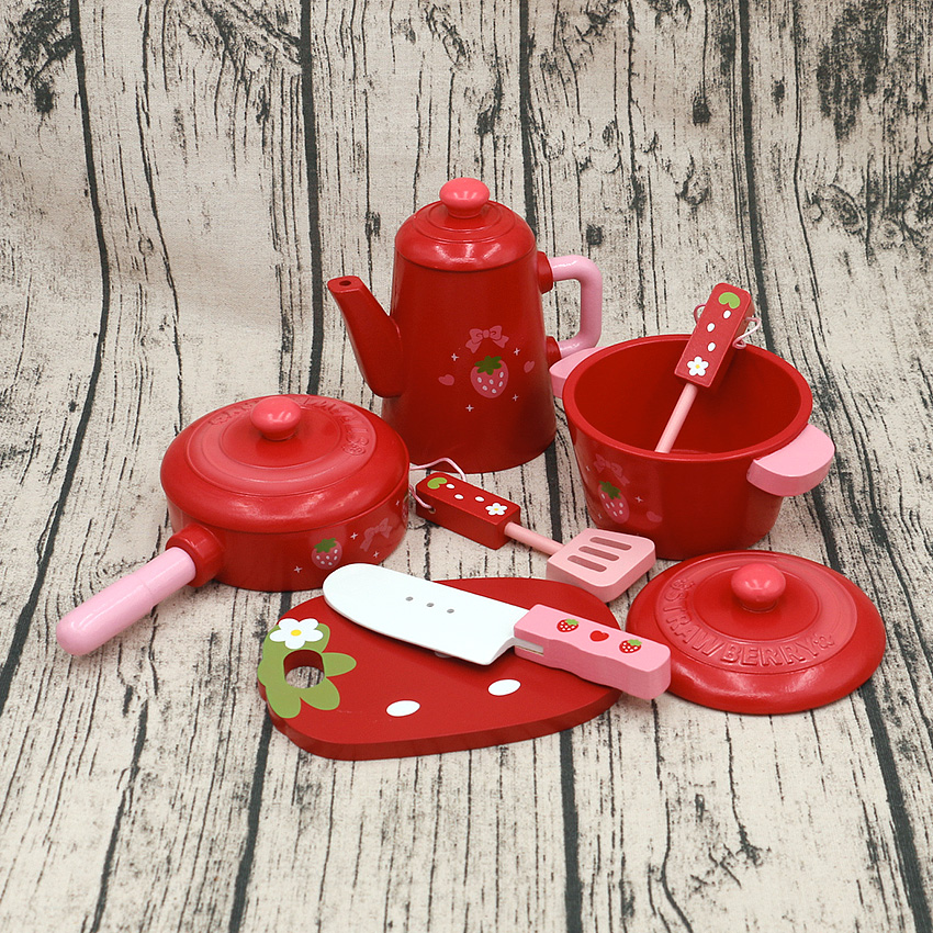 child Toys   red tea  set   toys  Wooden Toys Furniture Toys gift pretend  play house  toy pretend and play doctor set little doctor kids baby toddler children junior doctor nurses medical set kit role play toy