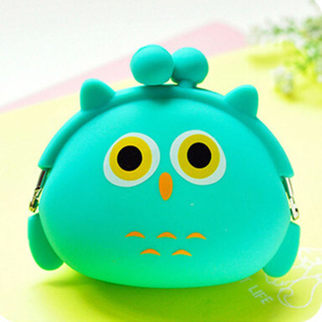 2017 New Fashion Lovely Kawaii Candy Color Cartoon Animal Women Girls Wallet Multicolor Jelly Silicone Coin Bag Purse Kid Gift Coin Purses & Holders