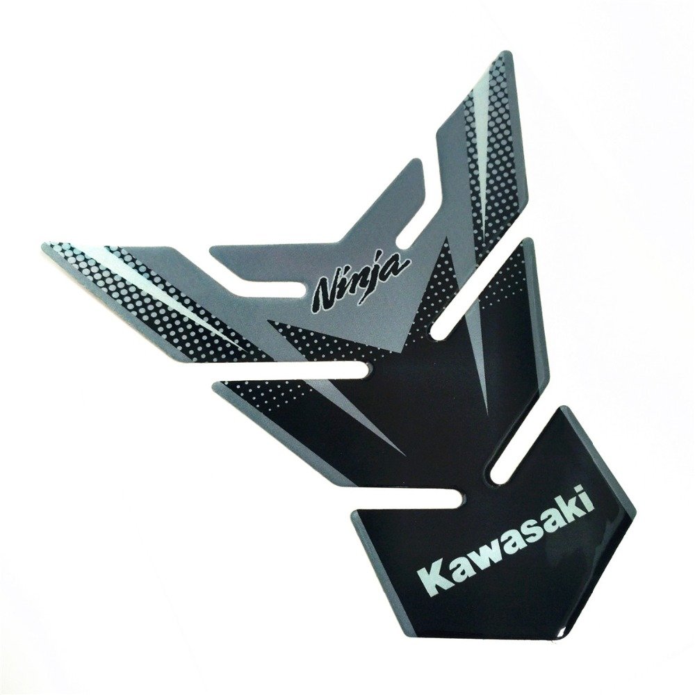 Motorcycle For Kawasaki Ninja 300 250 650 ZX6R 10R 12R Sticker Fuel Tank Pad Gas Cap Reflective 3D MOTO Emblem Protection