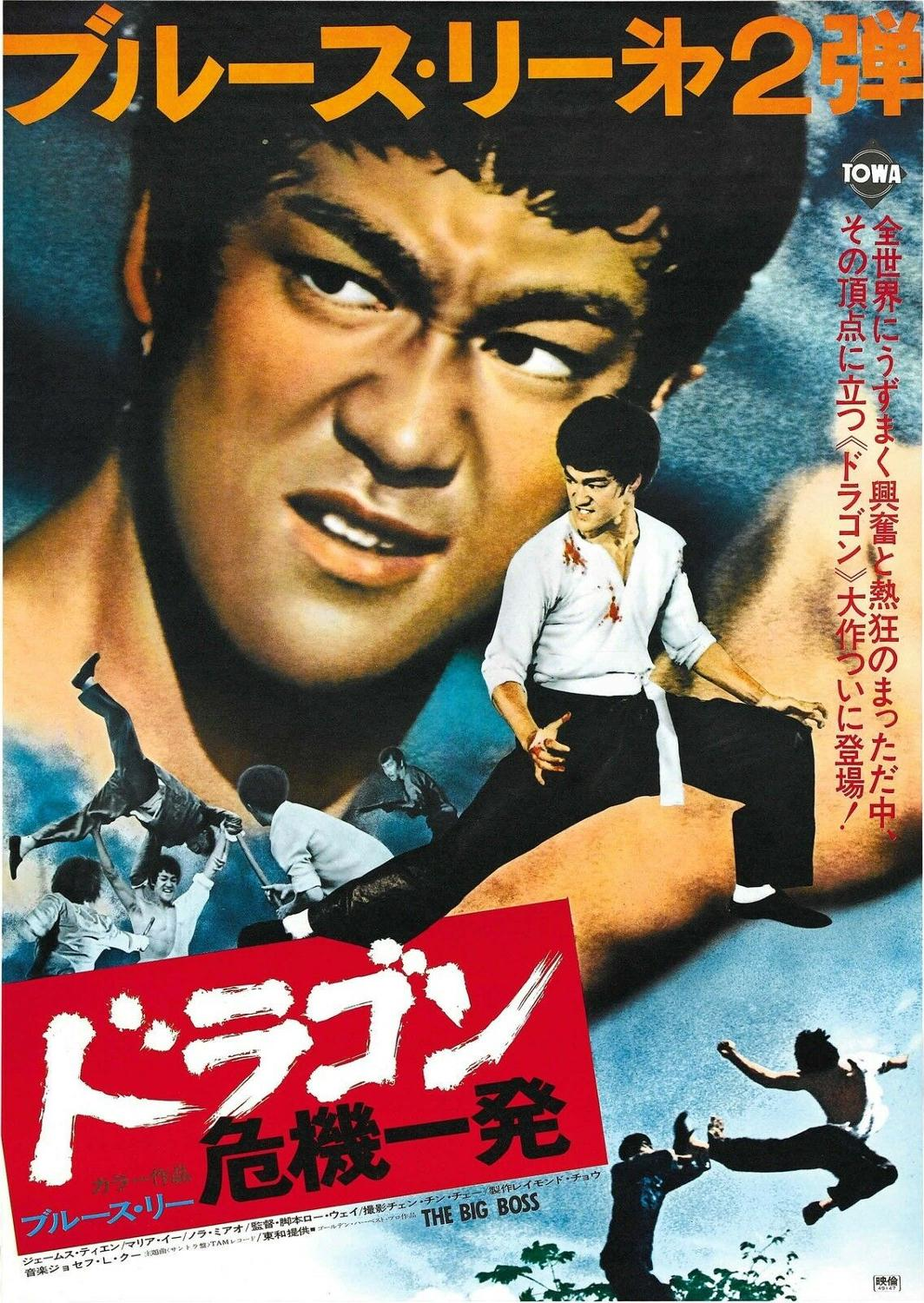 THE BIG BOSS aka FISTS OF FURY Movie Poster Bruce Lee Kung-Fu