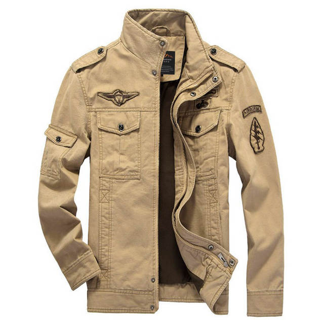 31859c17daf Men Air Force Jacket Spring Autumn Military Army Bomber Jackets Plus Size  6XL Winter Fleece Coats