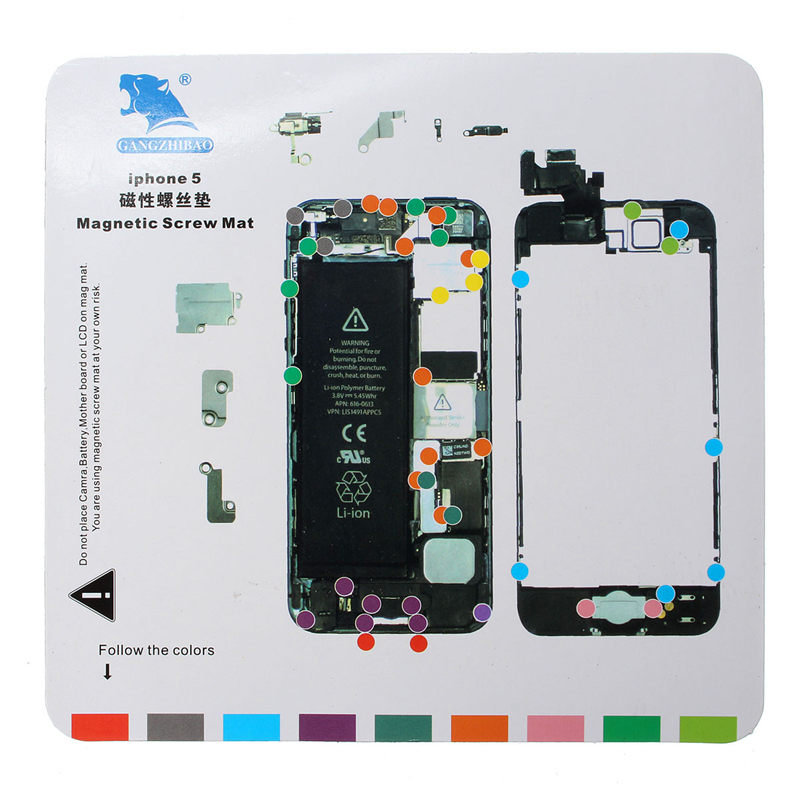 Professional Screw Magnetic Chart Mat Work Pad Opening Repair Tool Screws Holder For iPhone 6S 6 Plus 6 5s 5 4s 4
