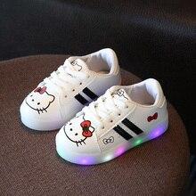2017 Moda Linda sapatos de iluminação LED crianças princesa Bonito do bebê das meninas dos meninos sapatos vendas quentes brilhando crianças tênis
