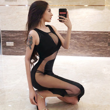 2019 Sexy club dresses dress Womens sexy tops cleavage Vestidos Wrap Roupa sensual levre pulpeuse bandage