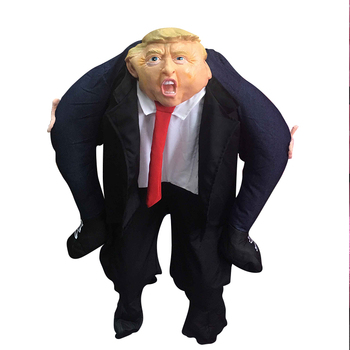 Donald Trump Pants Men Cosplay Clothes Ride On Me Mascot Costumes Carry Back Novelty Toys Halloween Party Dress Up Fun Disfraz