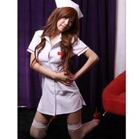 Plus Rozmiar Biały różowy Sexy Kostiumy Kostium Pielęgniarki pielęgniarki Nowy Dorosłych Fantasia Jednolite Hot Sexy Bielizna Kobiety Egzotyczne Odzież