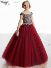 Real picture Girls Pageant Dresses For Little Girls Blue Gowns 2018 Toddler Turquoise Kids Ball Gown Glitz Flower Girl Dress children pageant evening ball gowns girls party dress kids elegant glitz red yellow blue emerald green flower girl dresses