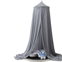 2019 New Baby Bedding Crib Netting Baby Bedding Canopy Tents Anti Mosquito Round Bed Net for Girls Boys Kids Room Bed Decoration