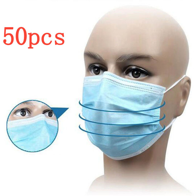 50 cs Disposable Blue Surgical Dust Filter Mouth Cover Beauty Nail ...