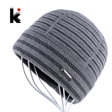 2016 Winter Hats Beanies For Men Gorro Beanie Fringe Designer Plus Velvet Hat Knitted Caps Bonnet Mens Skullies Touca Inverno