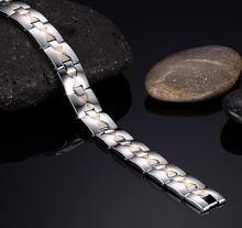 Модные простые мужские браслеты из нержавеющей стали магнитные