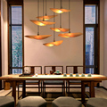 Китайская бамбуковая люстра  освещение  Японский Zen чайная комната  подвесные лампы  Юго-Восточная Азия  ретро отель  ресторан  Декор  домашн...