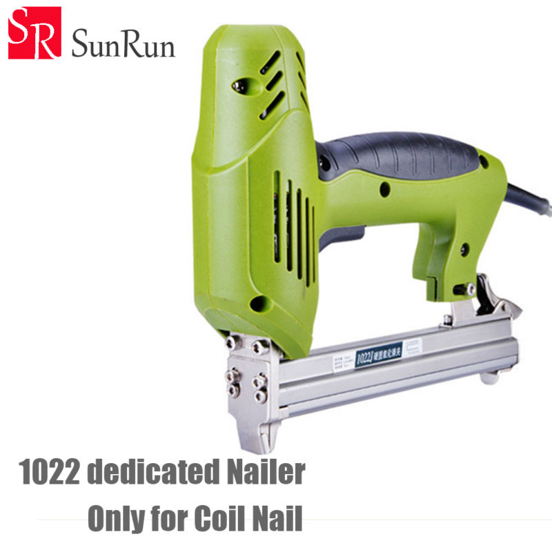 1022 Code nail dedicated Nailer 1800W 220 240V 30pcs min Electric Nailer Gun Electric Stapler Straight
