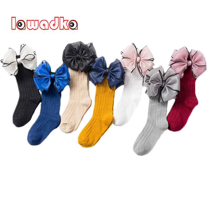 Beauty Bow Girl Lace Socks Cotton Princess Socks for Girls Fashion Newborn Baby Long Socks Autumn Winter Children Girl Clothes