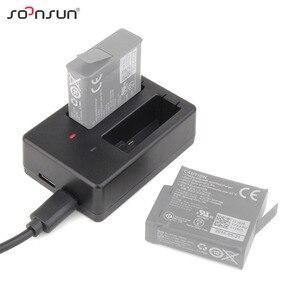 Image 2 - SOONSUN USB デュアルスロット AHDBT 501 バッテリー充電ドック充電クレードルとケーブル移動プロヒーロー 8 7 6 5 黒ゴープロアクセサリー