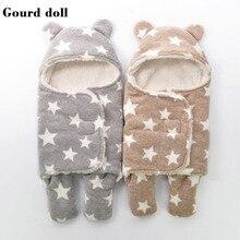 เด็กทารกใหม่ถุงนอนฤดูหนาวเป็นซองจดหมายสำหรับทารกแรกเกิด Cocoon Wrap sleepsack, ถุงนอนเด็กเป็นผ้าห่ม & swaddling