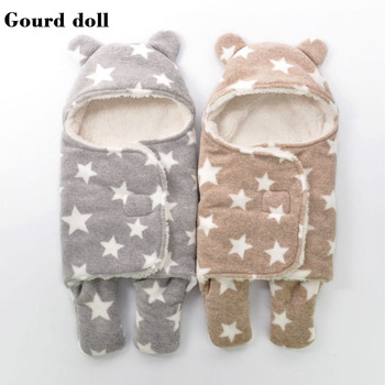 Nieuwe Baby baby winter slaapzakken als envelop voor pasgeboren cocoon wrap sleepsack, slaapzak baby als deken & inbakeren