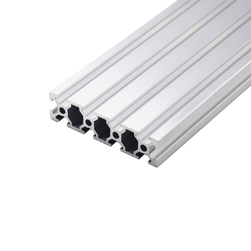 1PC 2080 Aluminum Profile Extrusion 100-800mm Length European Standard Anodized Linear Rail For DIY CNC 3D Printer Workbench
