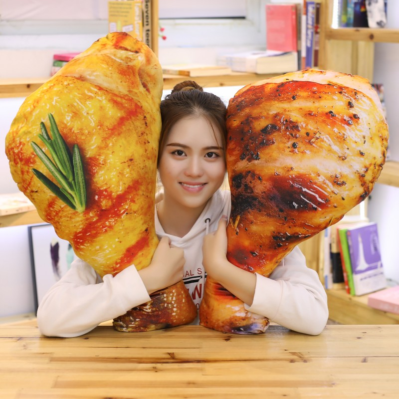 60-110CM Simulation Food Real Life Style Chicken Leg Toy Chick Wing Drumstick Fried Rice Noodles Pillow Cushion Birthday Gift