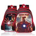 2016 Nueva Llegada de iron man Avengers niños boys school bolsas mochila de Nylon de la historieta de la escuela Primaria bolsa niñas niños mochila de grado