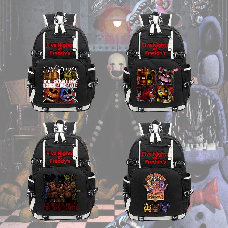Five Nights at Freddy's Backpack Freddy Chica Backpack Leisure Daily Backpack Travel Bag School Bag Notebook Backpack Knapsack