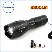 CREE XM-L T6 3800 Lumens LED Torch Tactical Linterna LED Flashlight Lampe Torche Torch Light  Zoomable for AA 18650 Camping