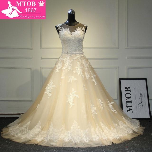 New Arrival Sexy A Linha Lace Vestido de Noiva 2019 Romantic Robe De Mariage vestido de Noiva Sheer Backless Vestidos de Noiva WJEN3