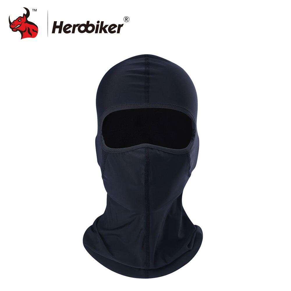 HEROBIKER Motorcycle Masks Men Black Speaker Grill Mesh Full Face Mask Summer Breathable Motorcycle Sun protection