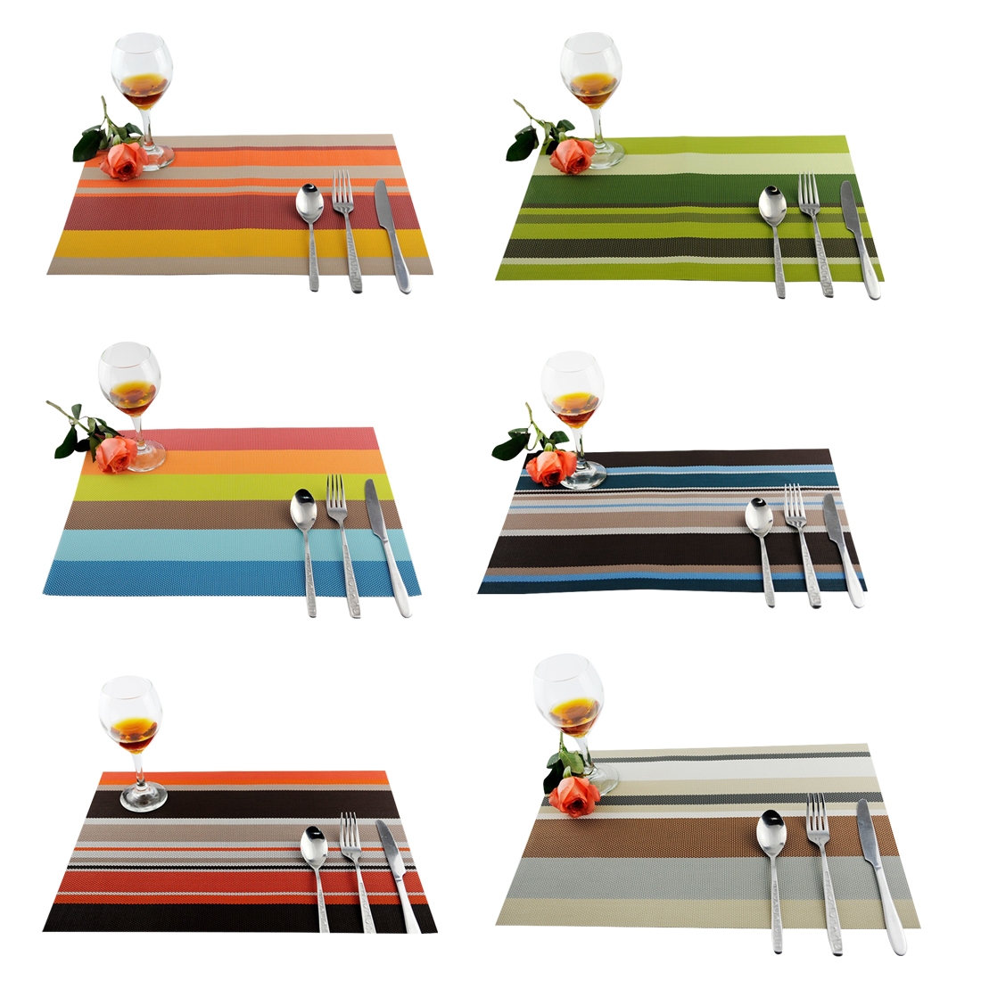Pvc Placemat For Kitchen Dining Table Mat Non Slip