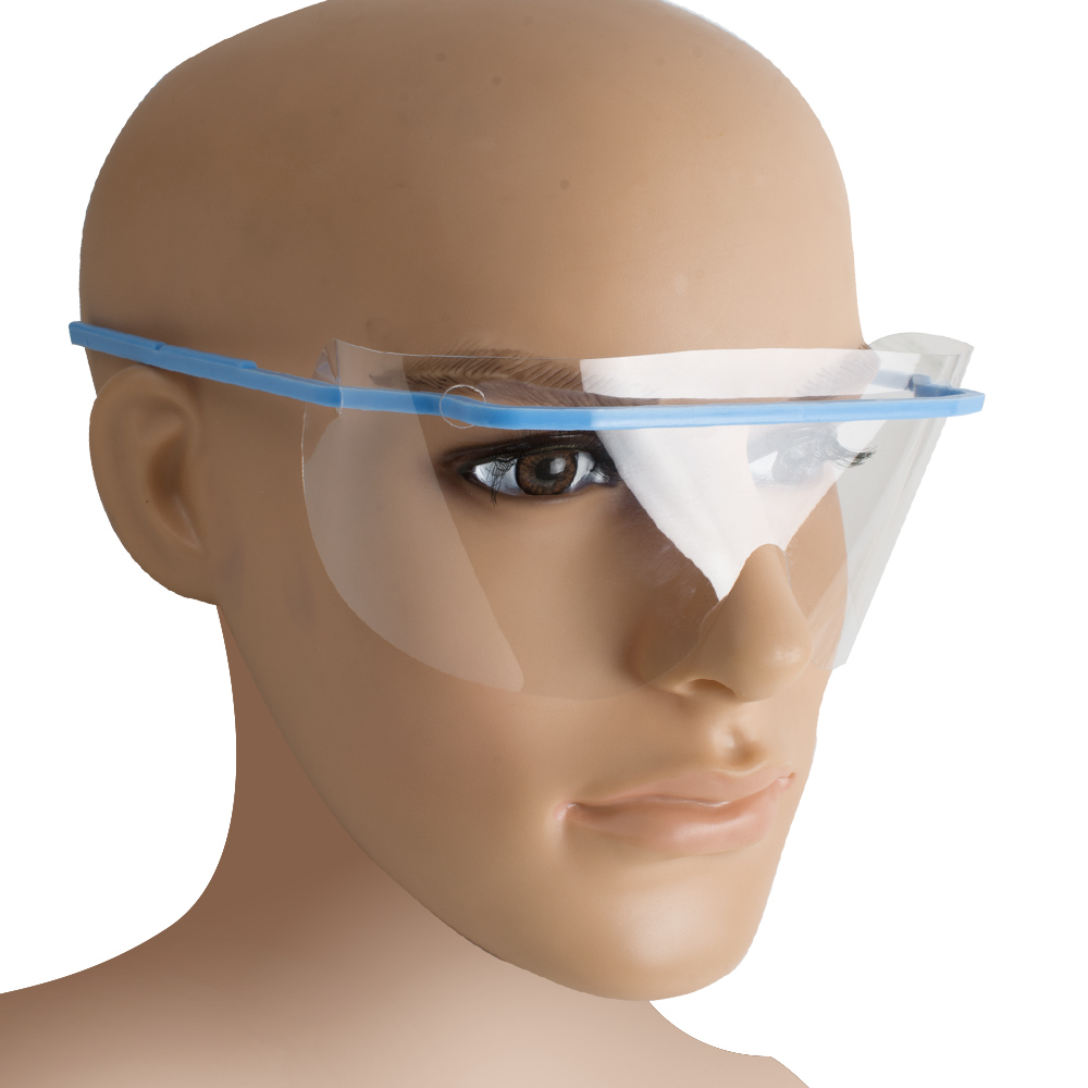 10pcs disposable anti-fog face mask with eye shield