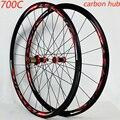 Дорожный велосипед 700C колесный велосипед углеродное волокно V/C тормозное колесо прямой тягой 30 мм обод прямая тяга нержавеющая стальная сп...