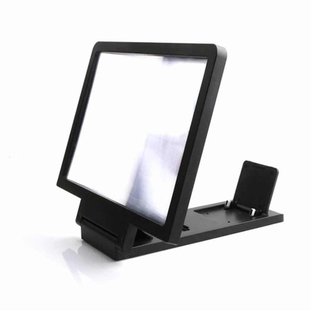 LESHP A składana konstrukcja szkło powiększające ekranu telefonu komórkowego 3D wideo szkło powiększające oko Protector wielofunkcyjna inteligentna podstawka pod telefon