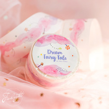 3 pcs Dream fairy tale paper washi tape set 25mm Cartoon pink color masking tapes decoration stickers DIY tool Stationery A6313