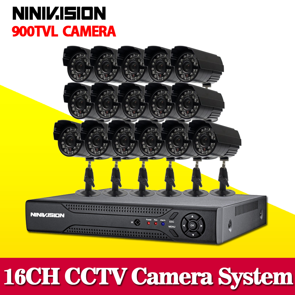 16 channel CCTV DVR NVR HVR 16pcs 1000tvl security outdoor waterproof camera 16ch 960h 3g wifi dvr kit hdmi 1080p 1TB HDD