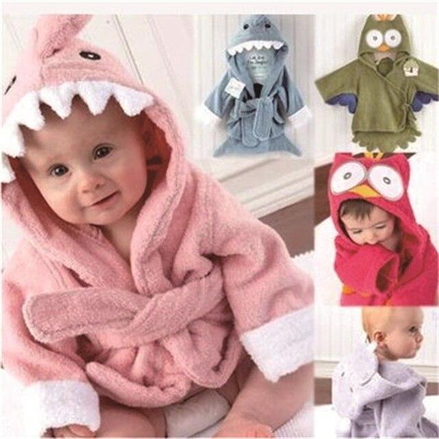 0 3 jahre nette kinder tiere baby kapuzenhandtuch bademantel baumwolle terry infant kinder bade. Black Bedroom Furniture Sets. Home Design Ideas