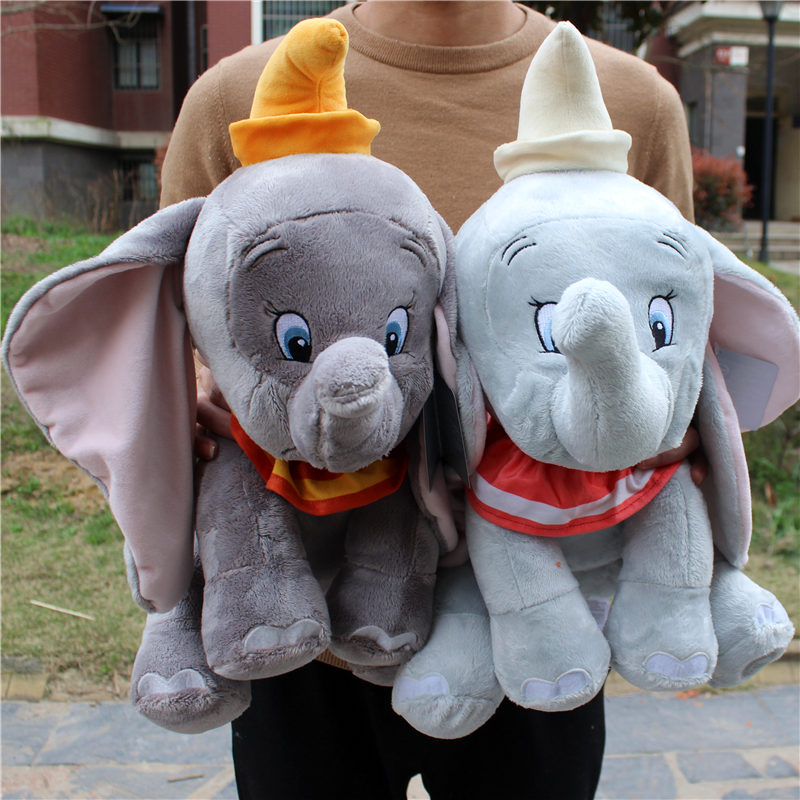 1piece 45cm=17.7inch Big Size Original 2019 Dumbo Elephant Plush Toys Stuffed Animals Soft Toys
