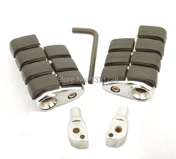 Chrome Wing Foot Pegs Rests For 1998-2006 Suzuki Intruder 1500 LC (Rear)