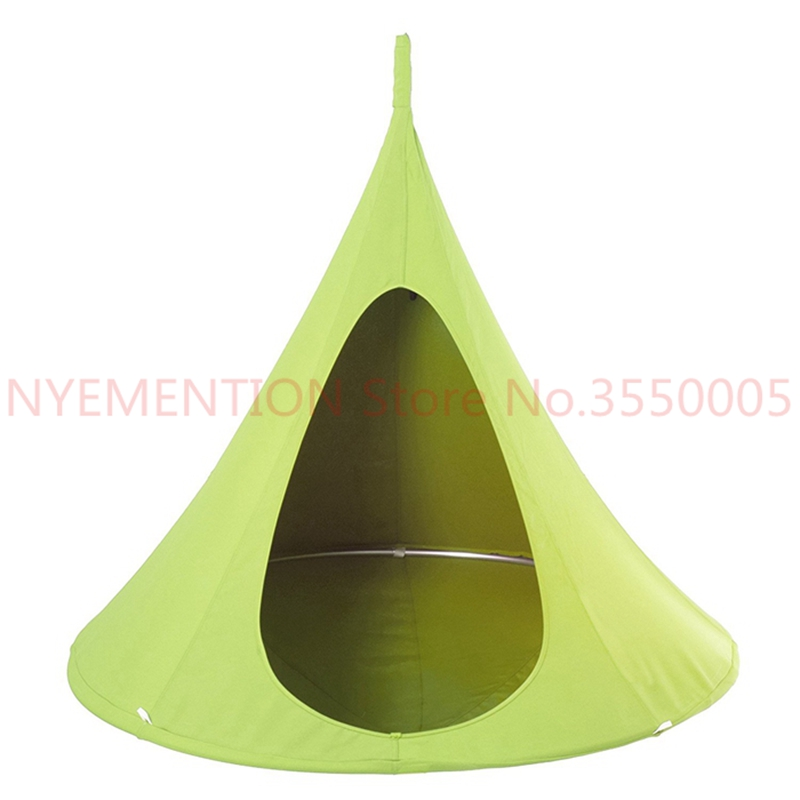Swing Swing Children Hammock Tent Kids Swing Chair Indoor Outdoor Hanging Chairs Seat Vivere Bonsai Double Single Cacoon 2pcs new kids pod swing chair nook hanging seat hammock nest for indoor and outdoor use great for children kids 7 types
