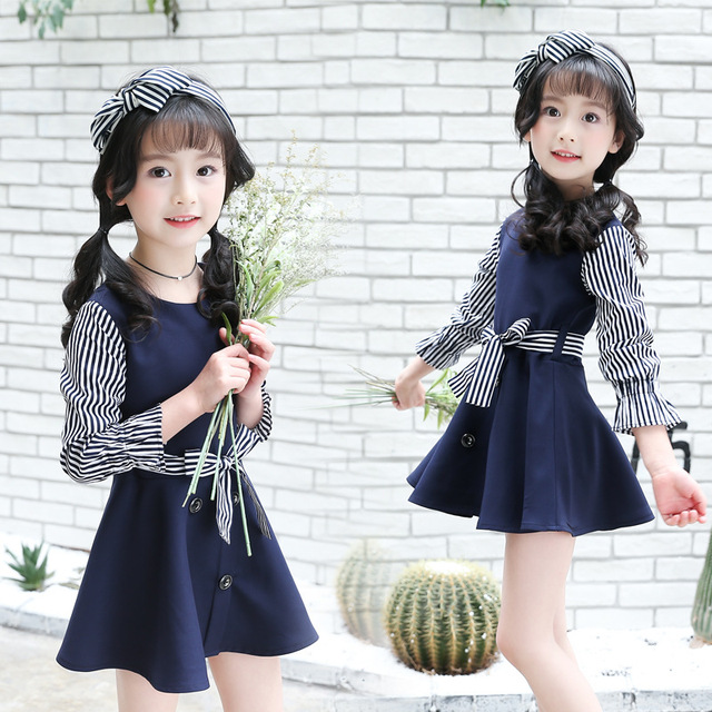 e59f7c742 Children s Wear 2018 New Girls Apparel Korean Fashion Trends Long ...