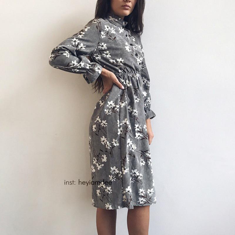 High Elastic Waist Vintage Dress 1