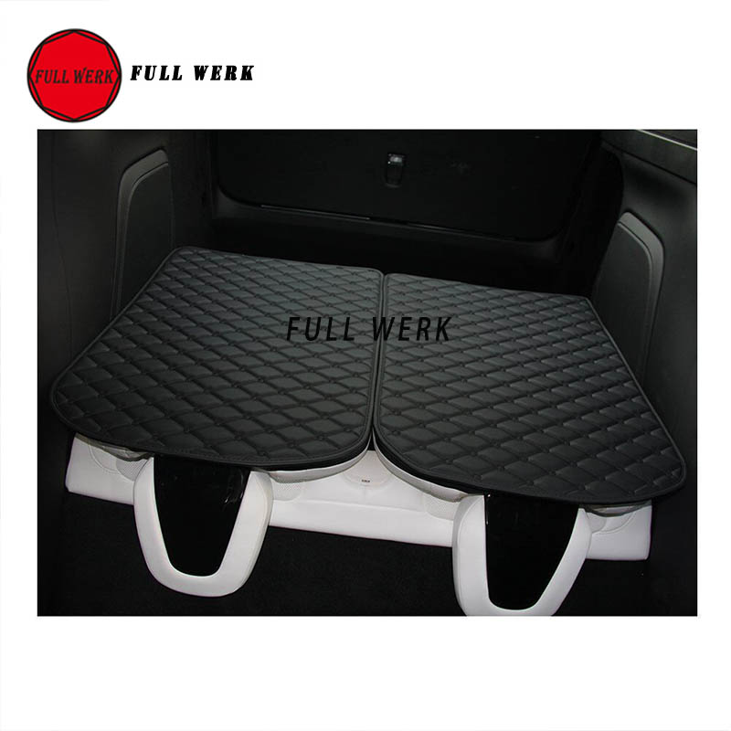 Car 3rd Row Back Seat Protector Mat Back Cushion Pad for Tesla Model X SUV 6 Seat 7 Seat Interior Accessories (2 pcs of Set) - 3