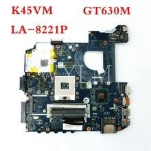 K45VM QCL40 LA-8221P GT630M 2G Материнская плата Asus A45V A45VD K45VD K45VM K45VJ K45VS Материнская плата ноутбука 100% тестирование